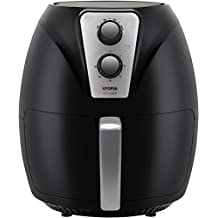 Utopia Kitchen 3.2 Quart Air Fryer - Cookbook Included with 50+ Recipes - Low Fat Cooking - Black - 1300 Watts