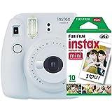 Kit Câmera Instantânea Instax Mini 9 Branco Gelo + Filme Instax Mini 10 fotos, Fujifilm