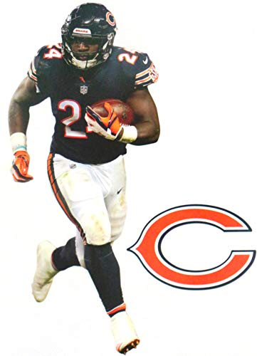Graphic Howard Wall - FATHEAD Jordan Howard Mini Graphic + Chicago Bears Logo Official NFL Vinyl Wall Graphics 7