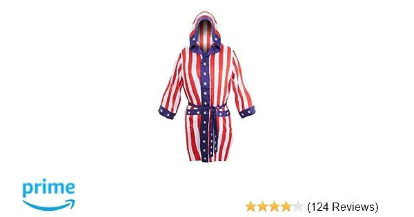 Amazon.com  Rocky Balboa Apollo Movie Boxing American Flag robe  Sports    Outdoors b3be90879