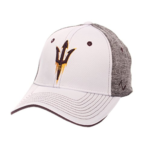 Zephyr NCAA Arizona State Sun Devils Adult Men Equinox Hat, Medium/Large, White/Heather Gray ()