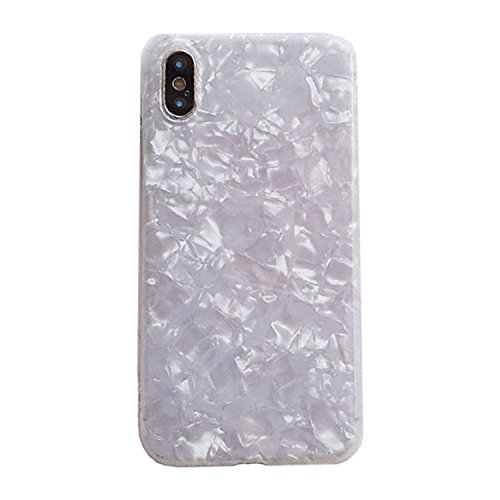 HogontaLuxury Colorful Conch Shell Phone Case For Iphone 7 Plus Fashion Cute Soft Back Cover For Apple Iphone X 6 6S 7 8 Plus Case White For Iphone 7 8 Plus (Shell Offering Conch)
