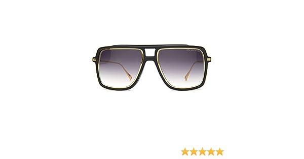 815daf699a52 Amazon.com  NEW Dita Westbound Sunglasses 19015A Matte Black 18K Gold   Dark  Grey Gradient  Dita  Clothing