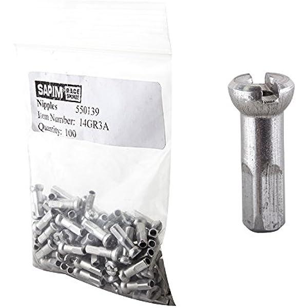 10 Brass Reducer Nipple Sapim 14 mm radius 2,34 mm Thread Black 14g