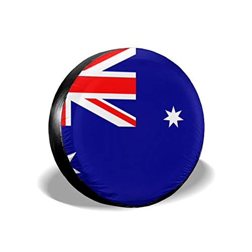 Ybdr94K@ Spare Tire Cover Australia Flag Sun Protector Universal Wheel Covers for Trailers, RV, SUV, Trucks and Many Vehicle, 14