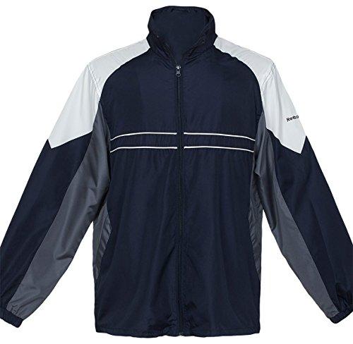 (Reebok Men's Performance Jacket, Navy/Grey/White, XXX-Large)