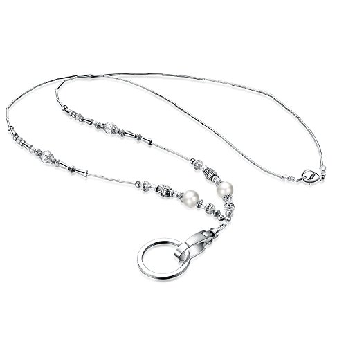 Clasp Jeweled - Fashion Lanyard, Wisdompro Women's 19