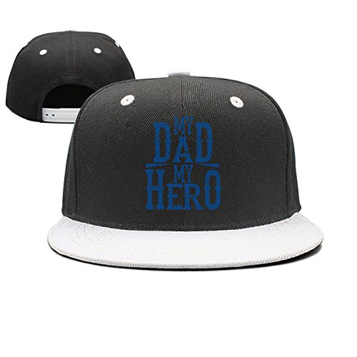SJSNBZ My Dad My Hero Happy Fathers Day Gift Cotton Unisex A