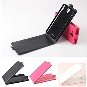 Flip PU Leather Protective Cover Case for Lenovo S898T @ Color==Black