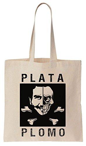 Plata O Plomo Pirates Flag Design Sacchetto di cotone tela di canapa