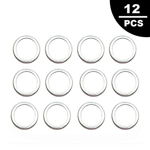 Engine Oil Drain Plug Sealing Washers/Crush Gaskets 803916010 Fit for Subaru Outback Crosstrek Forester WRX BRZ Impreza(12 Pcs)