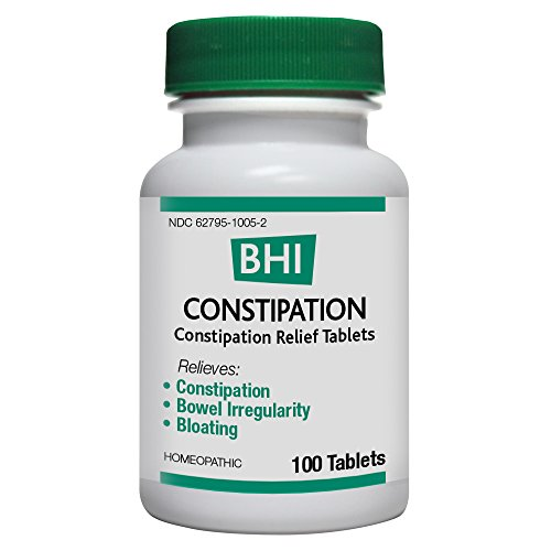 BHI Constipation Relief Tablets - Homeopathic Formula for Minor Constipation, Bowel Irregularity and Bloating - 100 -