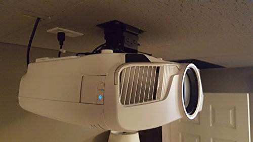 Holds Up To 40 Pounds By Vega A//V Systems Projector Ceiling Mount For Epson Home Cinema 5040UB Locks Into Position