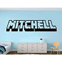 Personalized Gamer Name decal - 3d looking Gamer Room Wall Vinyl Decal Sticker