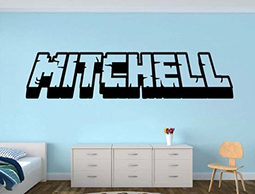 Complete your gamer room with this awesome 3d looking name decal. Each name is custom designed to look 3d and fun. The height will vary because the length of each name is different but don't worry, it will look proportional. Mock up sent upon...