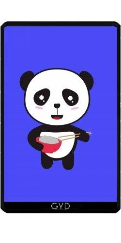 Hülle für Kindle Fire 7 pouces (2012 Version) - Niedlichen Panda Mit Reis by ilovecotton