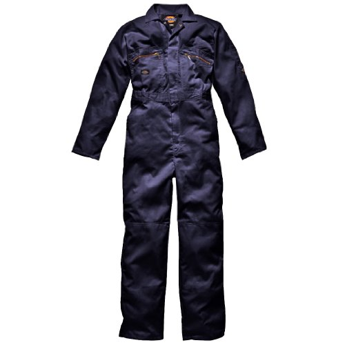 Dickies Men's Redhawk Workwear Zip Front Overall Navy 38/R (Dickies Overalls Womens)