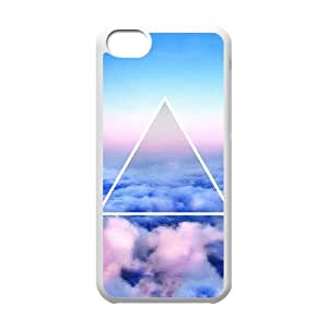 iPhone 5c Cell Phone Case White Nebula Galaxy tjah