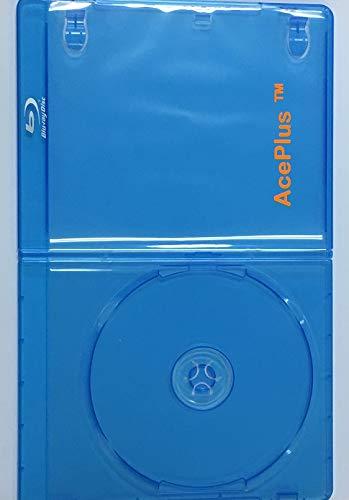 (AcePlus 100 Pieces Bluray Case 6mm Slimline Single with Wrap Around Clear Sleeve)