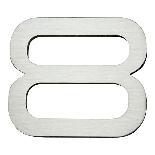 Atlas Homewares PGN8-SS 4-Inch Paragon House Number-8, Stainless Steel