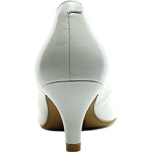 Easy Spirit Dames Keimi Peep-toe Pump White Le