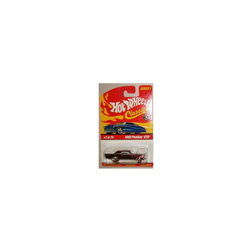 Hot Wheels Classic Series 1 1965 Pontiac GTO #2 of 25 164 Scale Collectible Die Cast Car with a Special Spectraflame Paint