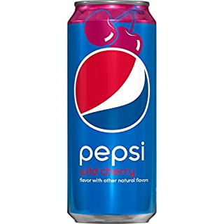 Pepsi Wild Cherry 16 Ounce Cans, 12 Count