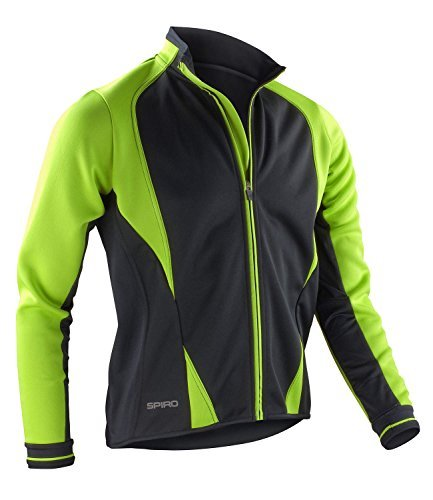 Spiro Men's Freedom Softshell Cycling Jacket Lime / Black Medium by Spiro by Spiro