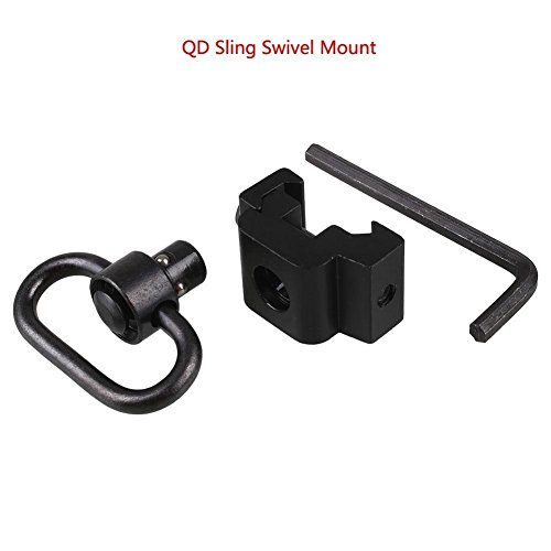 Dukars QD Sling Mount Swivel with Release Push Button (Sling Attachment for Picatinny/Weaver)