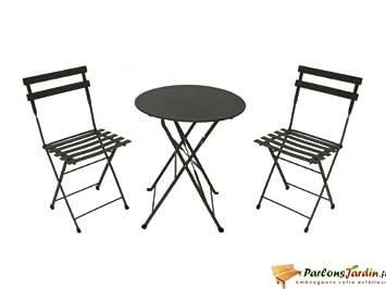 Salon de jardin en acier Danae rouille: Amazon.fr: Cuisine & Maison