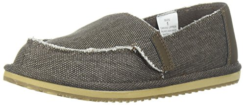 The Children's Place Boys' BB Slipon Deck Slipper, Brown, Youth 12 Medium US Big Kid
