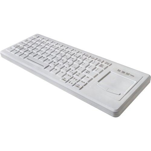 Tg3 Electronics 82-Key Low-Profile Right Touchpad Washable USB Keyboard KBA-CK82S-BRUN-US