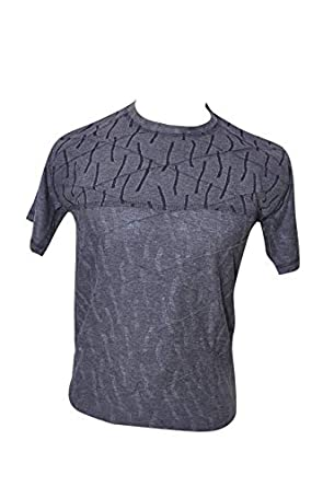c98966ee9 Men's Round Neck Grey Half Sleeve T-Shirt with Grey Check T-Shirt for  Boy's/Mens: Amazon.in: Clothing & Accessories
