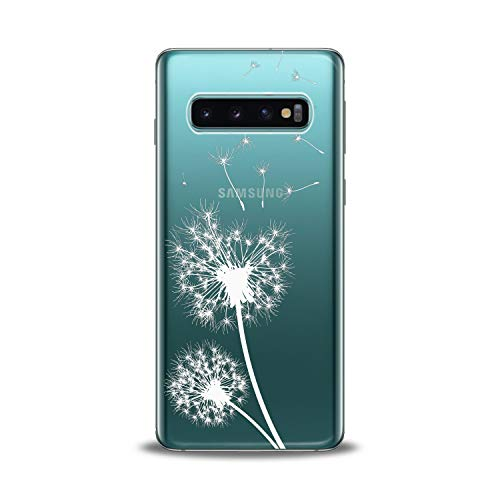 Lex Altern TPU Case for Samsung Galaxy s10 5G Plus 10e Note 9 s9 s8 s7 Tender Blowball Flowers Flexible Floral Soft Clear White Cover Silicone Feminine Glamorous Girl Protective Design Transparent New