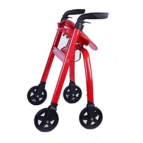 Conducción de los andadores de rodillos médicos para personas mayores, manijas cómodas y respaldo grueso Rehabilitación...