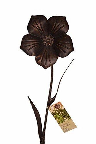 Gardman Periwinkle Garden Bronze Effect Flower Stake Ornament 90cm