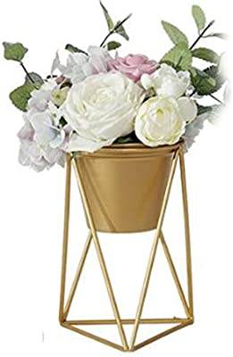 Home decoration of iron gold flower bucket ornaments