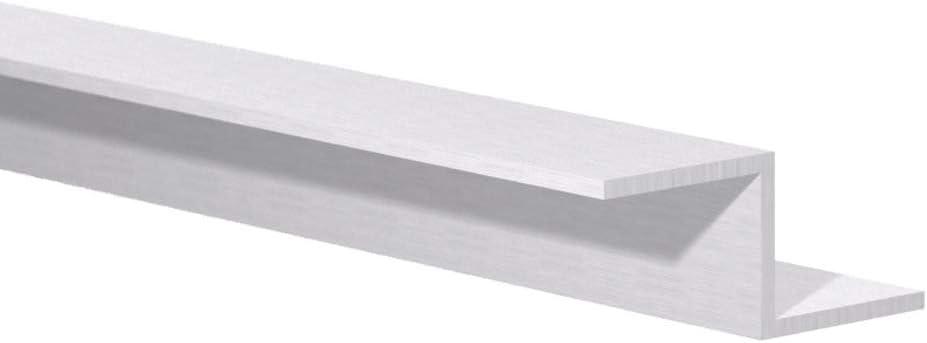 """4 Foot Length 5//8/"""" x 5//8/"""" x 1//8/"""" Wall Mill Finish Aluminum Angle"""