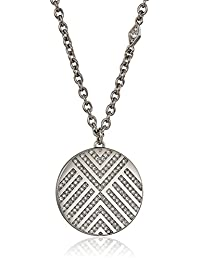 Fossil Womens Chevron Glitz Pendant Necklace