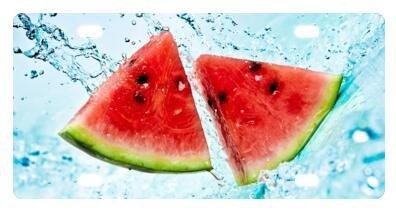Best Design Fruit Pattern - Watermelon Metal License Plat...
