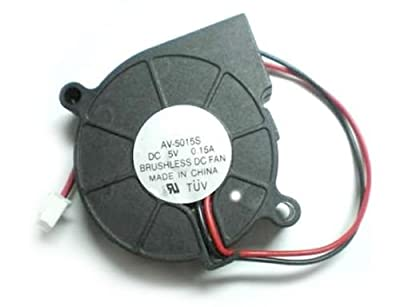 DC 5015S 5V 50MM x 15MM Turbine Brushless Cooling Blower Fan by AGI