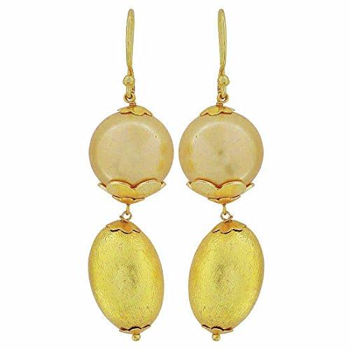Maayra Royal Hanging Earrings Golden Dangler Drop Dailywear Jewellery by Maayra