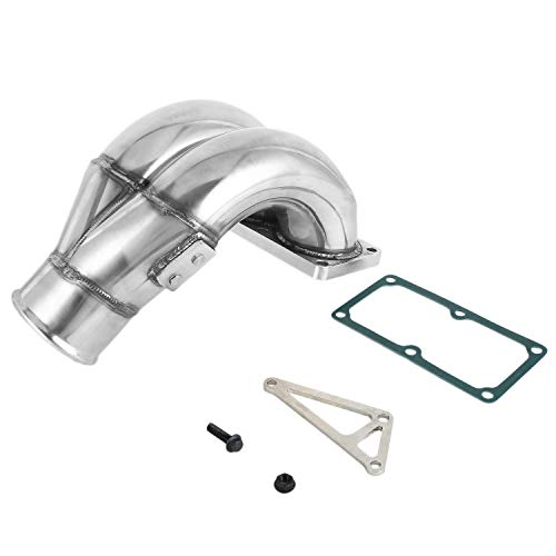 3.5 Inch Stainless Steel Durable Raw Performance SS Intake Manifold Suitable for 2007-2018 for Dodge 6.7L Cummins Diesel
