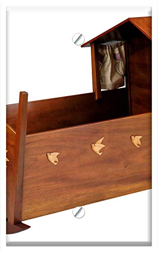 Single-Gang Blank Wall Plate Cover - Cradle Furniture Baby Bed Mahogany Maple