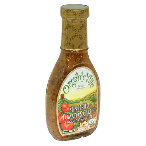 (Organicville Sun Dried Tomato and Garlic Salad Dressing, Case of Six 8-Ounce Bottles)