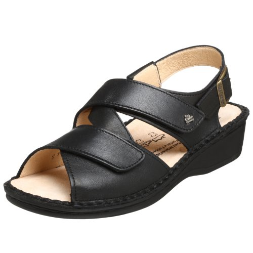 Finn Comfort Women's Jersey Sandal,Black Nappa,35 EU (US Women's 4 M)