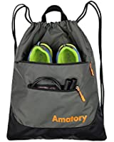 Drawstring Backpack Sports Gym String Bag Cinch...