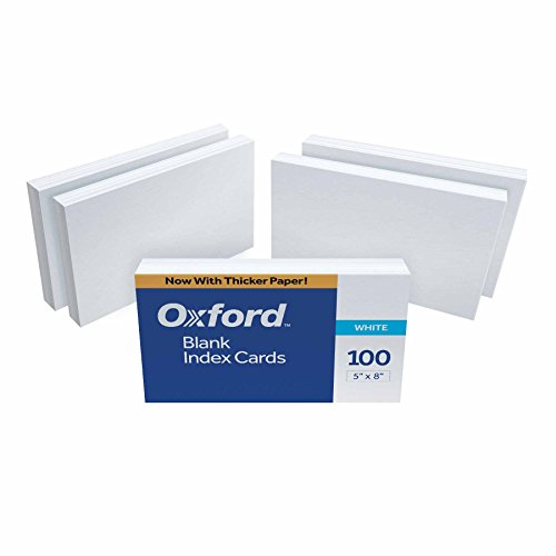50 Cards Blanks (Oxford Blank Index Cards, 5