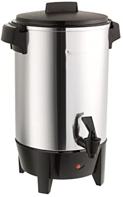 West Bend Highly Polished Urn Features Automatic Temperature Control Large Capacity with Quick Brewing Smooth Prep and Easy Clean Up