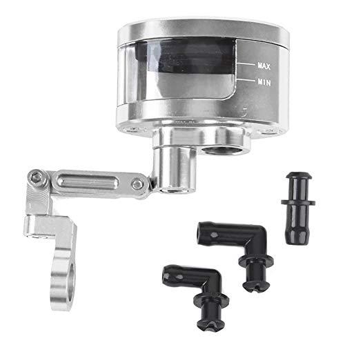 eamqrkt 1 Set Motorcycle Brake Clutch Master Cylinder Fluid Reservoir Tank Oil Cup with Bracket,Silver: